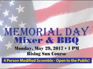 Memorial Day Scramble + BBQ May 29, 207