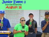 Junior Club Championship - Junior Golf Event