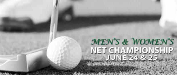 Men's and Women's Net Championship June 24-25 at Chesapeake Bay Golf Club