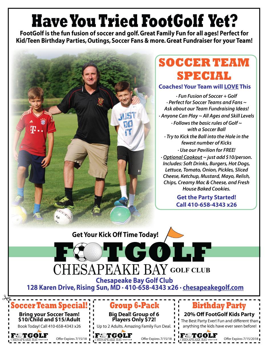 Soccer Team FootGolf Special