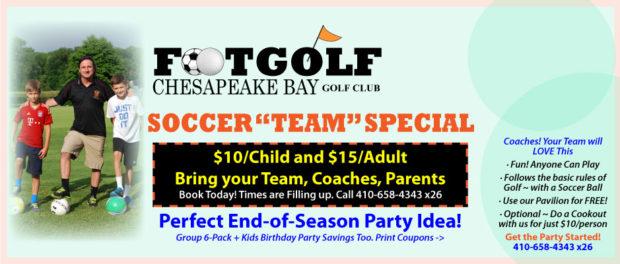 Soccer Team FootGolf Special Offer