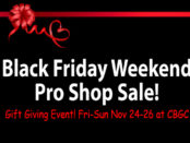 Black Friday Weekend Pro Shop Sale