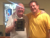 Sandbagger of the Year Al Mingle with Andy Barbin