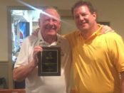 Sandbagger of the Year Al Mingle with Andy Barbin