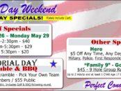 Memorial Day Weekend Golf + FootGolf Specials.