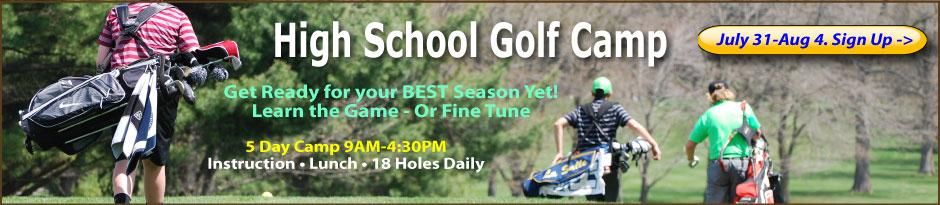 High School Performance Golf Camp July 31-August 4 at Chesapeake Bay Golf Club.
