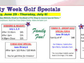 4th of July Week Golf + FootGolf Specials June 29-July 6.