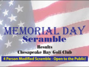 Memorial Day Scramble Results