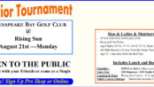 Senior Tournament - Senior Club Championship August 21, 2017
