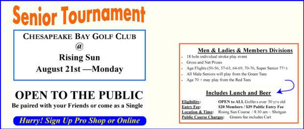 Senior Tournament - Senior Club Championship August 21, 2017