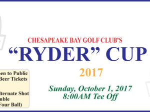 "CBGC's ""Ryder"" Cup Format Tournament"