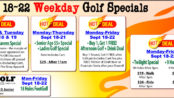 Monday-Friday Weekday September 18-22 Specials