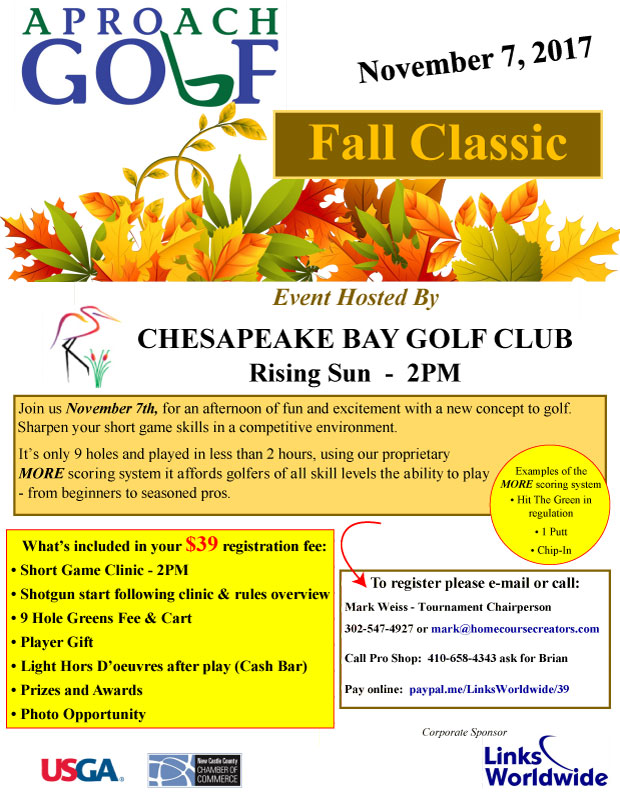 APROach Golf Fall Classic Flier