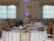 Chiavari Chairs in the Chantilly Ballroom