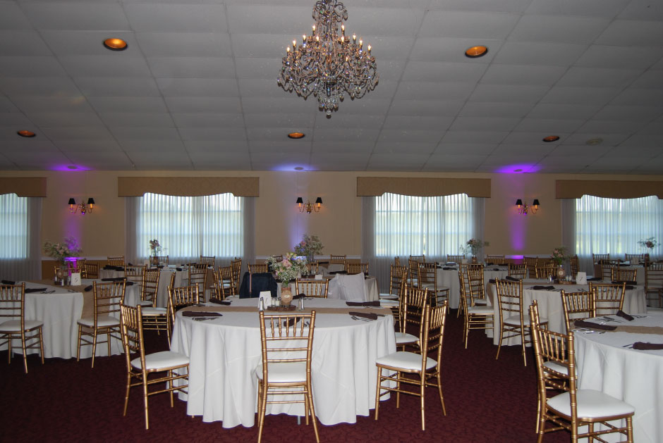 Chiavari Chairs and Crystal Chandelier