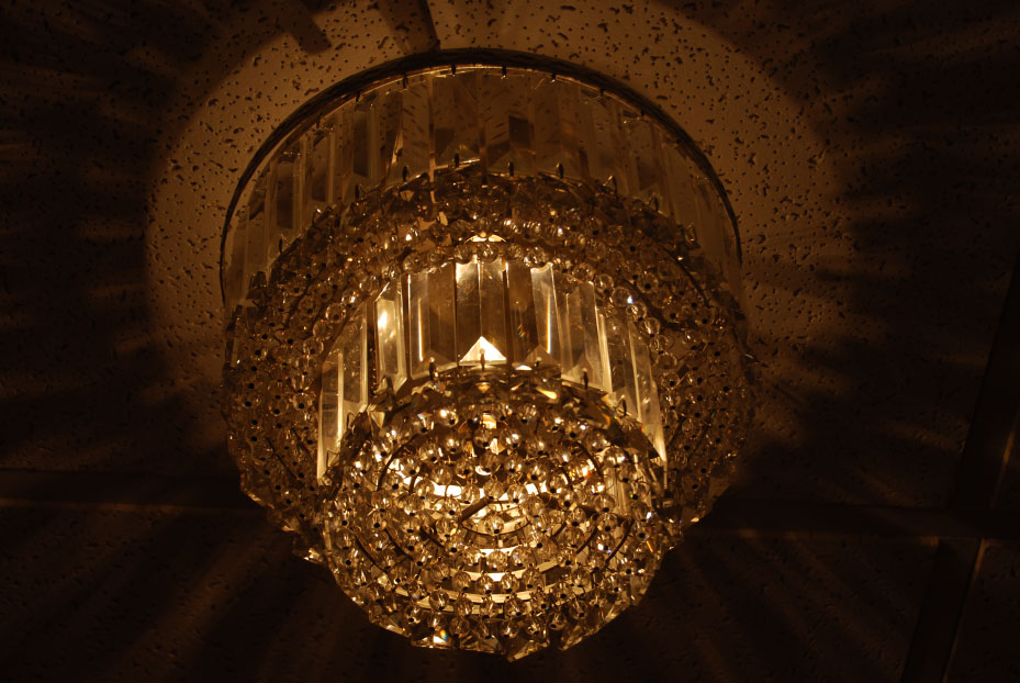 Ladies Room Entry Crystal Ceiling Light