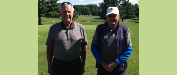 2017 Ryder Cup Low Net winners - Fred Barrett and Dudley Cummings