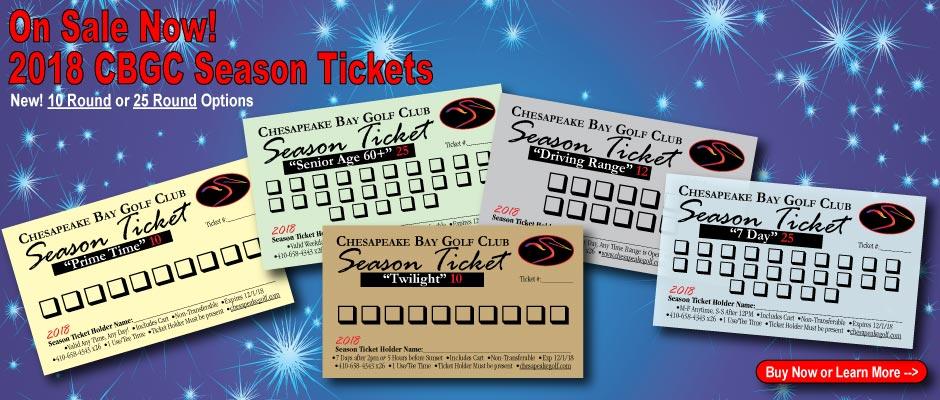 2018 CBGC Season Tickets