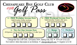 2018 CBGC Golf Pass Card
