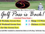 Chesapeake Bay Golf Club's 2018 Golf Pass is Back!