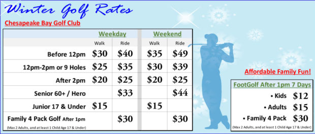 Winter Golf Rates