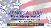 Memorial Day Weekend Pro Shop Sale!