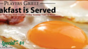 Players Grille Breakfast Menu