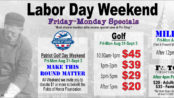 Labor Day Weekend Golf Specials