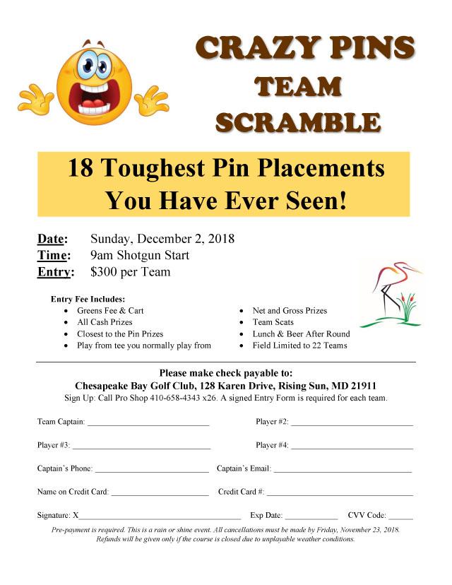 Crazy Pins Team Scramble