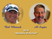 Bob Whiteoak Al Snyder Members of the Year