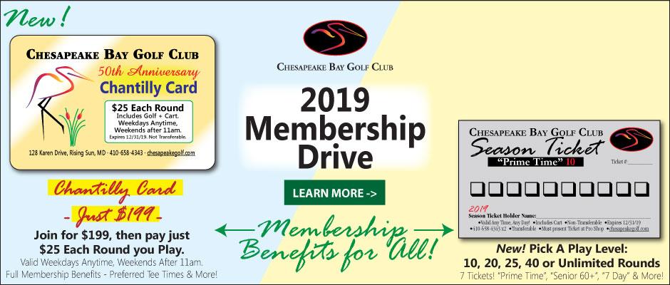 2019 Golf Memberships at Chesapeake Bay Golf Club