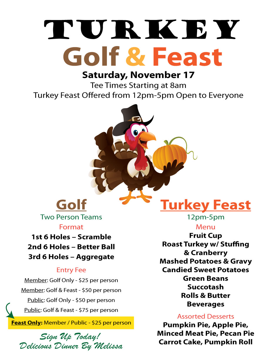 Turkey Golf & Feast Flier