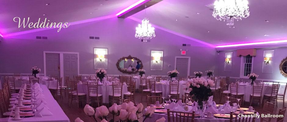 State of the art custom lighting features - Chantilly Ballroom