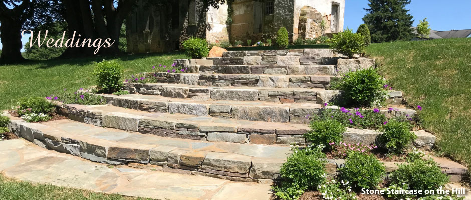 Slate and Stone Staircase On the Hill