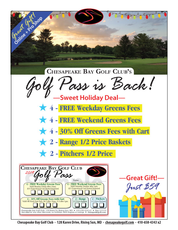 CBGC Golf Pass flier