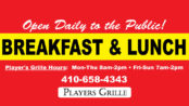 Breakfast & Lunch Served Daily!