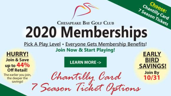 2020 Golf Memberships